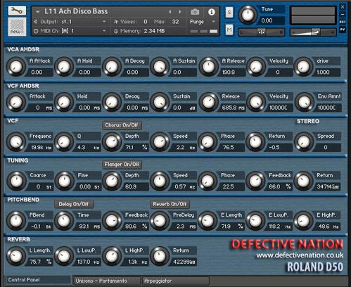 Roland D50 Budget Samples