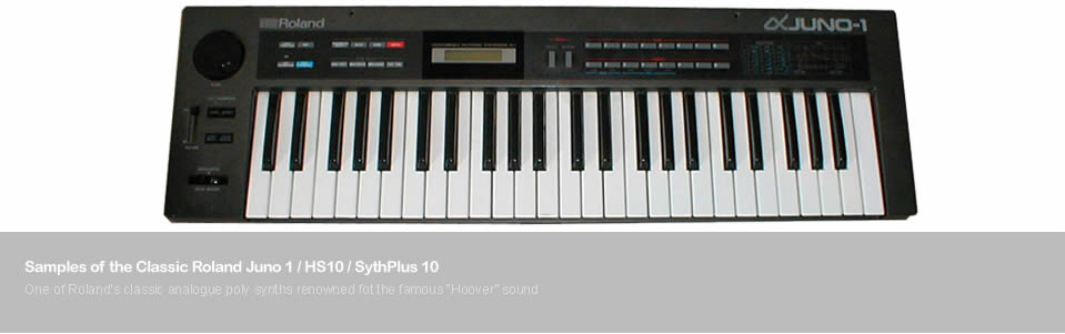 Samples of the Roland Juno 1