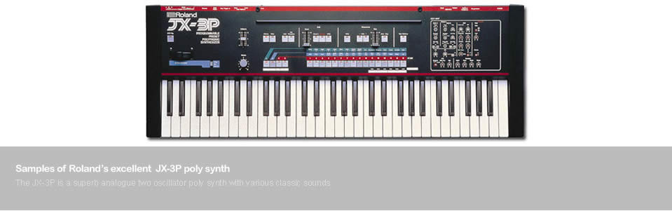 Samples of the Roland JX-3P